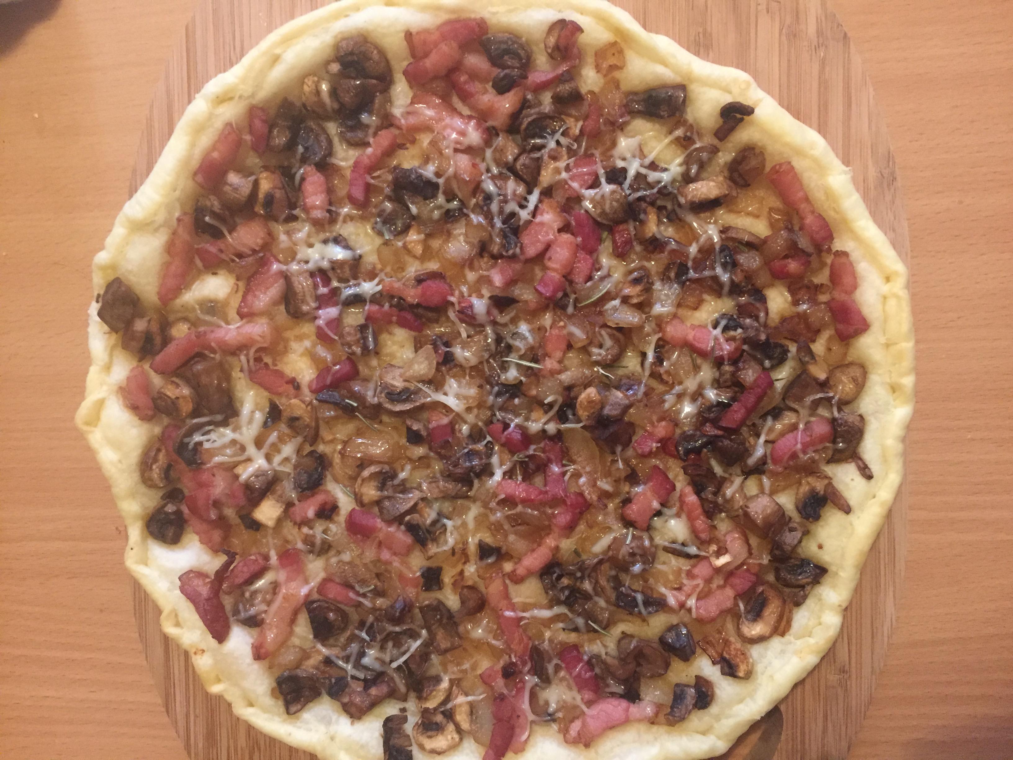 mushroom-onion-bacon-tart